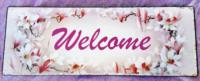 Placca in metallo ´welcome´